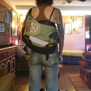 Ye Olde Crusty Punk Bailey Works Courier Bag